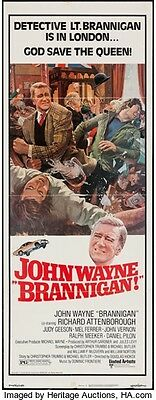 John Wayne Bannigan 14x36 Rolled Insert Movie Poster 1975