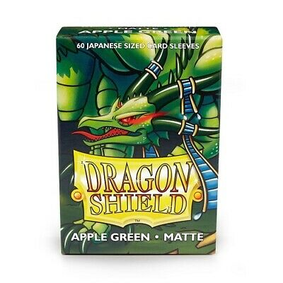 Dragon Shield 60 Japanese size Deck Protector Sleeves Matte Apple Green AT-11118