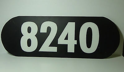 Australian Railway Sign 8240 number board replica by professional signwriter