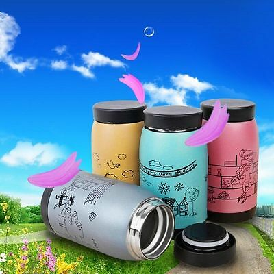 1PC 250ML Stainless Steel Vacuum Cup Flask Thermos Travel Coffee Insulated Mug