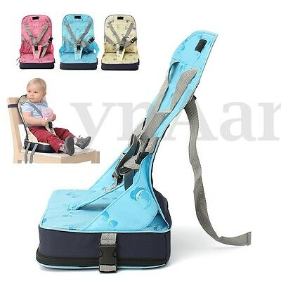 Baby Toddler Foldable Dining High Chair Feeding Booster Seat With Harness 3color