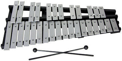 30 NOTE GLOCKENSPIEL by Atlas. 2.5 Octave, G to C. Folding frame. From Hobgoblin