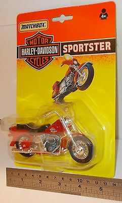 Matchbox Motor Cycles - Harley-Davidson, Sportster, Red -  Sealed Pack.(Vintage)
