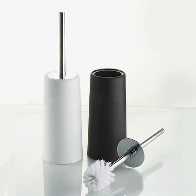 Toilet Brush Holder Cleaning Brush Free Standing Bathroom Stainless Steel Brush
