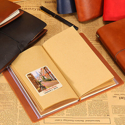 Craft Paper Notebook Account Book Dot Journal Diary Memo Blank Page Stationery