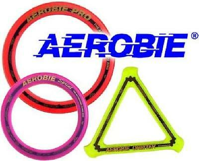"Aerobie Set: Pro (13"") & Sprint (10"") & Orbiter Boomerang Flying Frisbee Disc"