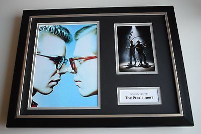 The Proclaimers SIGNED FRAMED Photo Autograph 16x12 display Music AFTAL & COA