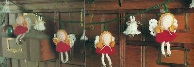 Crochet Pattern ~ ANGELS & BELLS SWAG, Garland Christmas ~ Instructions