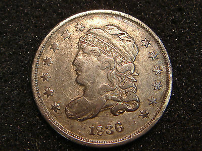 1836 Capped Bust Half Dime XF details - light cleaning