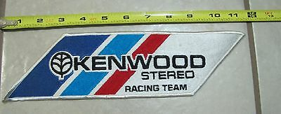 Kenwood Stereo Racing Team Usa Car Auto Cloth Patch Nos Vinatge 1980's