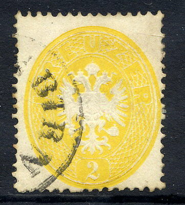 AUSTRIA 1863 Arms 2 Kr. perforated 14 fine used.