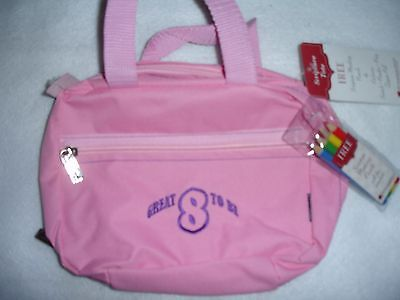 CTR Great to be 8 Scripture Bag Tote New Pink Case LDS Marking Pencils