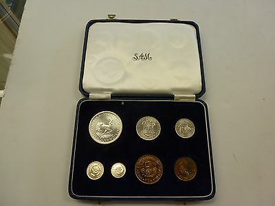 1961 South Africa 7 Coin Proof Set In Modified SAM Box Case