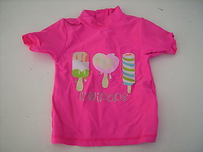 Cute Girls Matalan Pink Zipped Uv Sun Top Age 6-9 Months