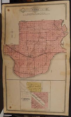 Missouri Holt County Map Forbes Township 1918 Double Page Double Sided  J10#45