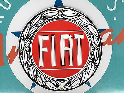 top quality FIAT porcelain coated 18 GAUGE steel SIGN