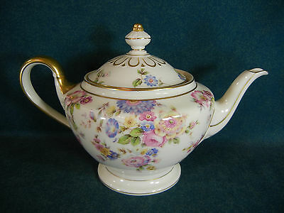 "Castleton China Sunnybrooke Large 6 1/4"" Tea Pot with Lid - Hard to Find"