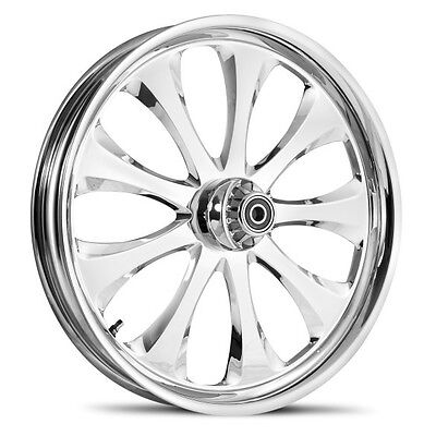 """Dna """"lust"""" Chrome Forged Billet 21"""" X 3.25"""" Front Wheel Harley Touring"""