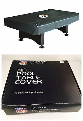 Pittsburgh Steelers 8' Billiard/Pool Table Cover NFL Officially Licensed