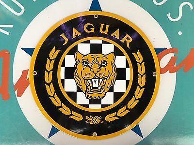 top quality JAGUAR porcelain coated 18 GAUGE steel SIGN