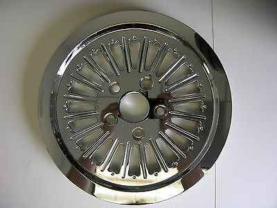 """Forge-Tec Chrome """"warrior"""" Rear Belt Drive Pulley 65 Tooth 1-1/2"""" Harley"""