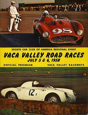 1958 John Von Neumann Ferrari TR 250 Wins Vaca Valley Race Program