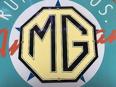 "top quality MG ""morris garages"" porcelain coated 18 GAUGE steel SIGN"