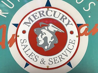 top quality MERCURY sales SERVICE porcelain coated 18 GAUGE steel SIGN