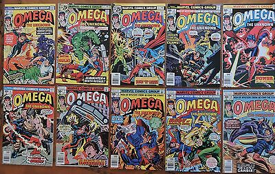 Omega the Unknown Lot–1,2,3,4,5,6,7,8,9,10 (complete), Defenders 76,77