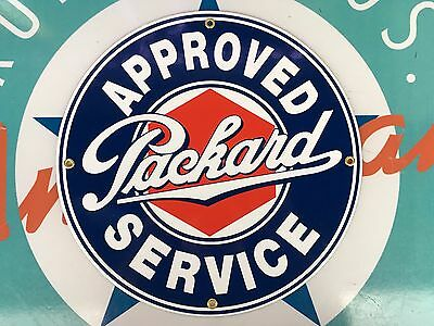 top quality PACKARD approved SERVICE porcelain coated 18 GAUGE steel SIGN