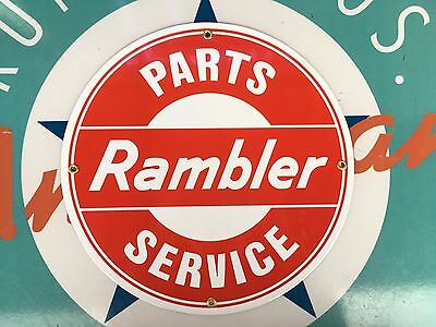 top quality RAMBLER parts SERVICE porcelain coated 18 GAUGE steel SIGN