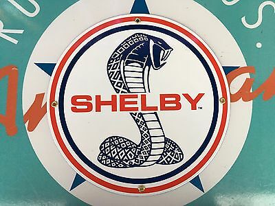 top quality SHELBY COBRA ford motor COMPANY porcelain coated 18 GAUGE steel SIGN