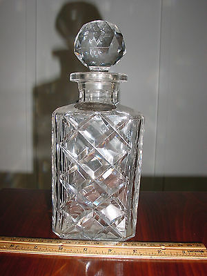 1950's Era Val St. Lambert Belguim Crystal Decanter with Sterling Silver Tag