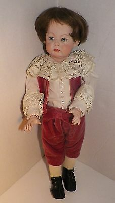 "Vintage GERMAN Reproduction Boy 17"" Bisque Armand Marseille A7M ""Fany"" PARTS TLC"