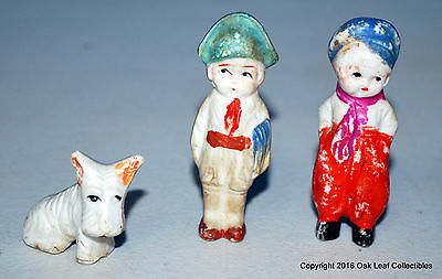 "Vintage Pair Weather-Bird Shoe Promotional Figurines & Dog Japan 2.5"" Tall"