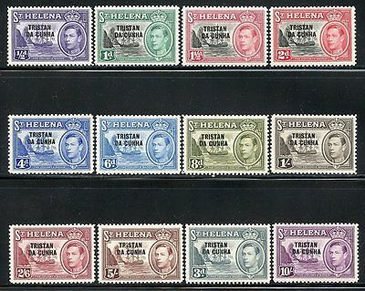Tristan Da Cunha  Scott#1/12   Original Gum Mint Never   Hinged #2 & #3 Are Lh