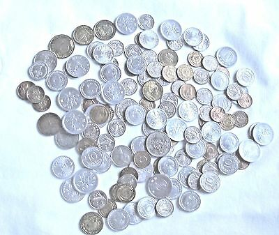 Large Lot of Foreign Coins** Over 100 **Many Countries