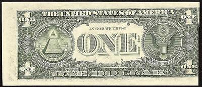 1981 $1 Dollar Bill Double Error Note Misaligned Back And Small Gutter Fold