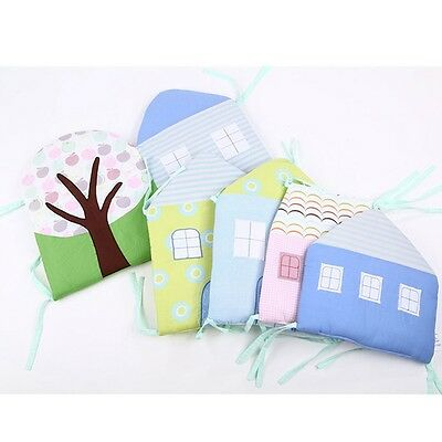 Newly Baby Bumpers Infant Crib Pretty Surround Pads Set Toddler Cot Back Cushion