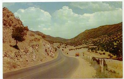 1950 Highway 66 road scene - New Mexico East of Albuquerque Tijeras Canyon