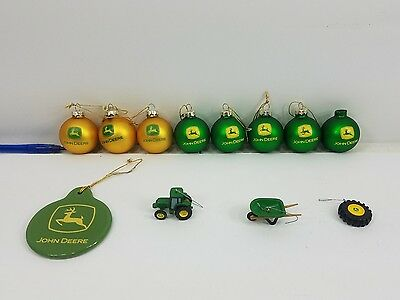 Pre Owned John Deere Christmas Tree  Ornament Lot - Holiday Decor - Decorations
