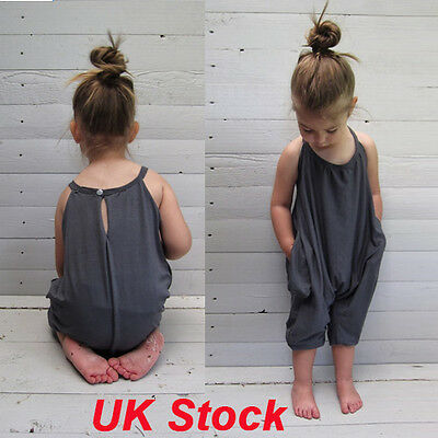 UK Infant Baby Girls Romper Bodysuit Sunsuit Jumpsuit Summer Outfit Kids Clothes