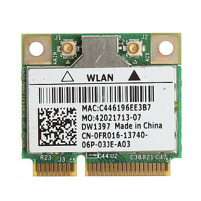 Wireless 54M Wifi Mini PCI-E Card For Dell DW1397 0KW770 Broadcom BCM94312HMG2L