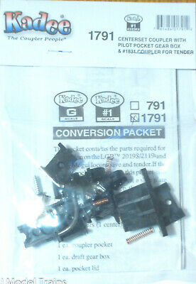 Kadee #1791 (#1 Scale) Centerset Coupler w/Pilot Pocket Great Box &