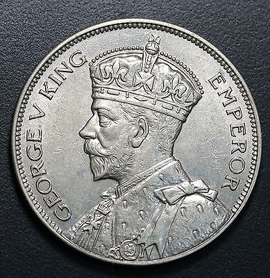 1934 New Zealand Silver Halfcrown KM# 5 aUNC+  Coin