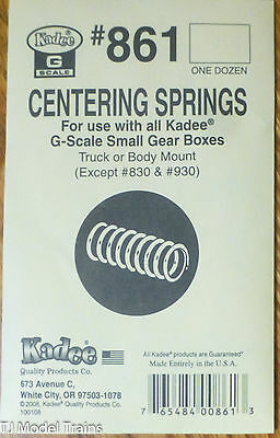 Kadee #861 (G Scale) Centering Springs for: use w/all Kadee G-Scale Small Gear