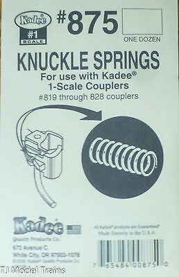 Kadee #875 (#1 Scale) Knuckle Springs (12 in pkg)fits: #819 Through 828 Couplers