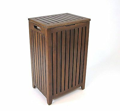 Redmon Genuine Teak Apartment Hamper & Laundry Bag-Teak 5314 Hamper NEW