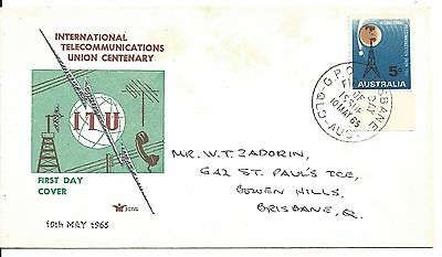 1965 International Telecommunications Union Centenary First Day of Issue 5d