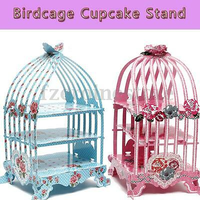3 Tiers Birdcage Cupcake Cake Stand Muffin Holder Wedding Party Table Decoration